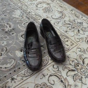 Cole Haan Brown Croc Loafers EUC